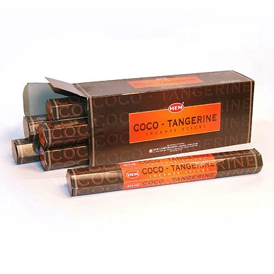 Благовоние «КОКОС+МАНДАРИН» (Hem Coco-Tangerine incense sticks).